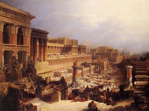 יציאת מצרים: אלוהים במקום פרעה (ציור של דיוויד רוברטס. כל התמונות בפוסט - מהוויקיפדיה)