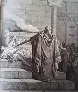 מתיתיהו הכוהן הורג את המתיוון ליד מזבח יופיס (ציור של גוסטב דורה)