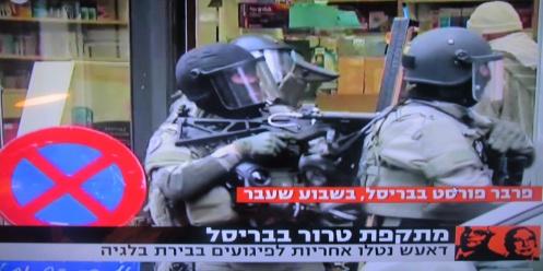 חיילים לוחמים בטרור ברחובות בריסל