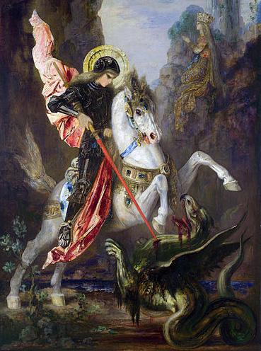 ג'ורג' הקדוש ומלחמתו במפלצת: במקרה של ג'ורג' זה דרקון. במקרה של בראל מדובר בעמישראל. (ציור מהוויקיפדיה)