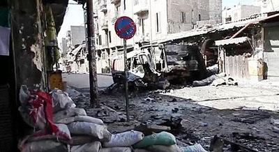 רחוב בחאלב, סוריה: גן עדן לסוחרי נשק, גהינום למקומיים (צילום מהוויקיפדיה)