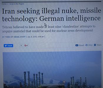 המודיעין הגרמני: האיראנים מנסים לרכוש טכנולוגיות גרעיניות וטיליות
