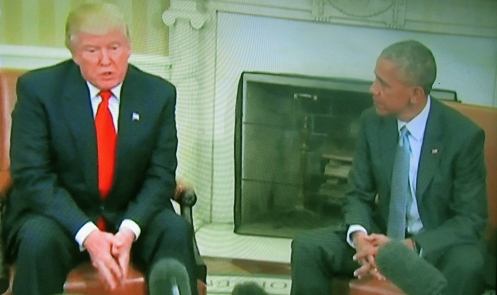 נשיא מכהן אובמה ונשיא נבחר טראמפ: הטוב שבזמנים?