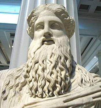 ראשו של פסל דיוניסוס במוזיאון הבריטי (צילום מהוויקיפדיה)