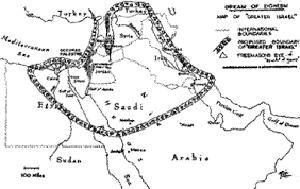 קריקטורה איראנית: הנחש הציוני משתלט על המזרח התיכון