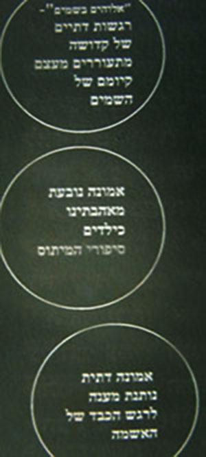 3 מתוך 14 הסיבות לאמונה, מתוך תרשים בעמוד 145 בספר