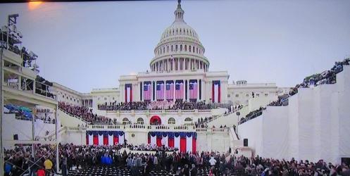 טקס חילופי השלטון האמריקאי על גבעת הקפיטול בוושינגטון: