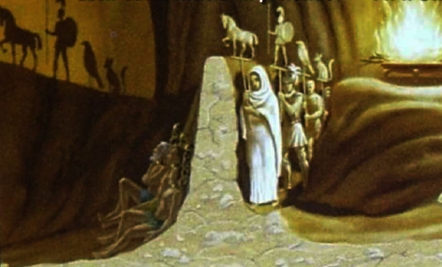 מופע הצלליות במשל המערה: עולמם הרוחני של הצופים